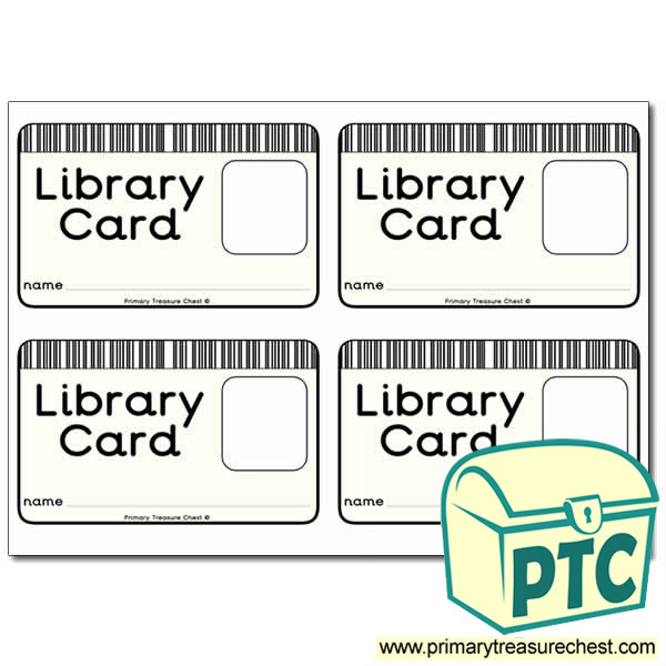 Role Play Library Card