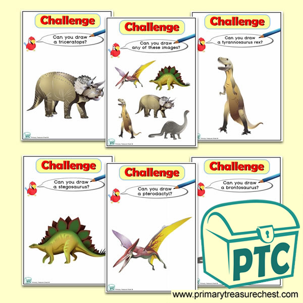 Dinosaur  Themed ICT Challenge Cards