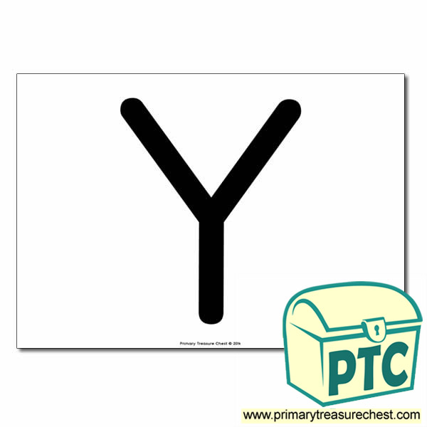 'Y' Uppercase Letter A4 poster  (No Images)