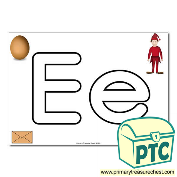 'Ee' Upper and Lowercase Bubble Letters A4 Poster, containing high quality, realistic images