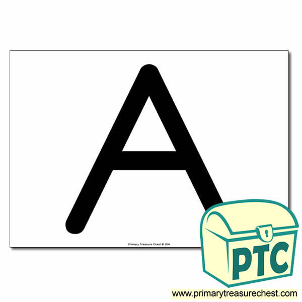 'A ' Uppercase Letter A4 poster  (No Images)
