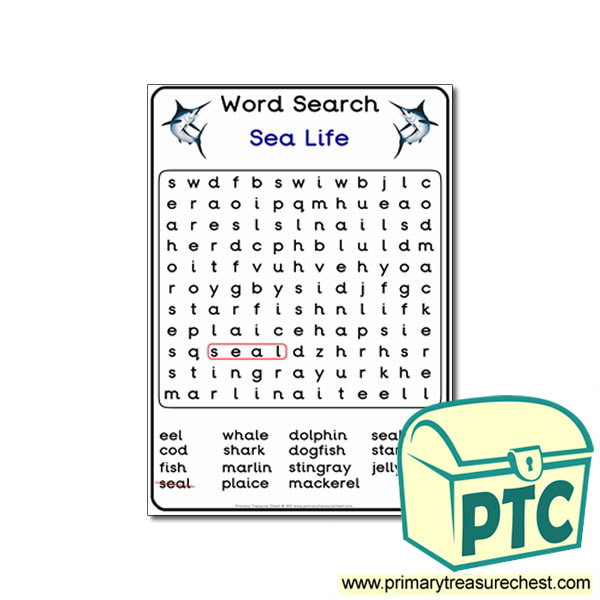 Sea Life Themed Word Search