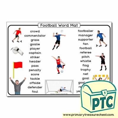 Football Word Mat