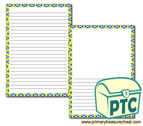 Scottish Themed Page Border/Writing Frame (narrow lines)
