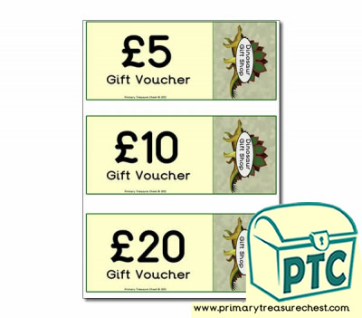 Role Play Dinosaur Gift Shop Shopping vouchers