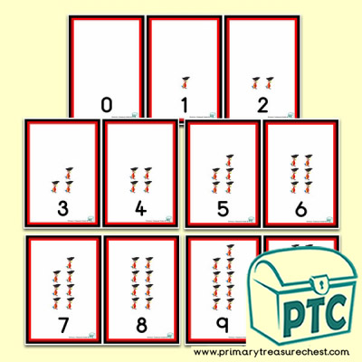 Pirate Parrot 0 to 10 Number Shapes Number Line