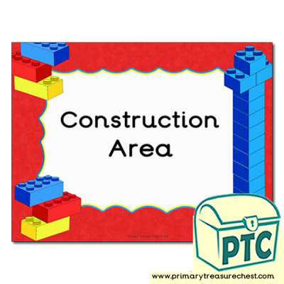 Construction area Classroom sign