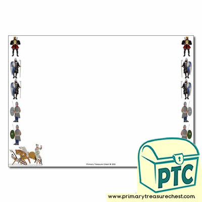 William the Conqueror Page Border/Writing Frame (no lines)