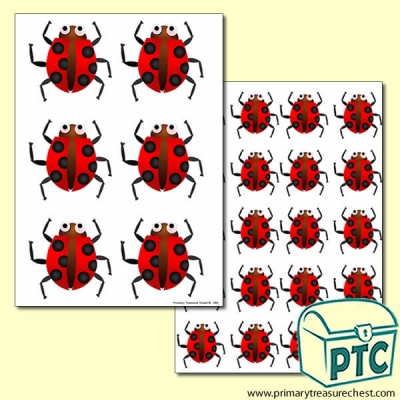 Ladybird Themed Big and Small Sheets