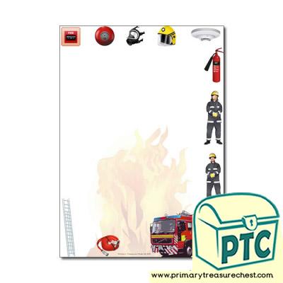 Fire Station Themed Page Border/Writing Frame (no lines)