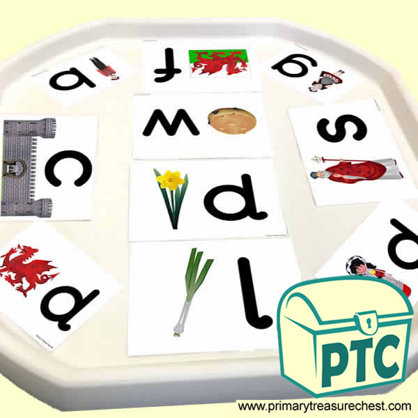 St. David's Day Themed Phonics Tuff Tray Cards