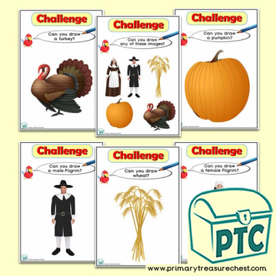 Thanksgiving Themed ICT Challenge Cards