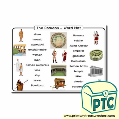 Roman Themed Word Mat