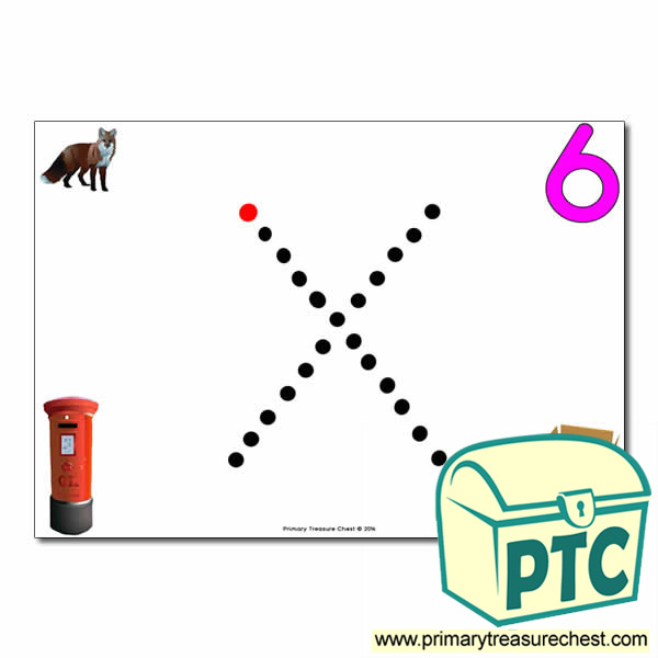 'x' Lowercase Letter Formation Activity - Join the Dots