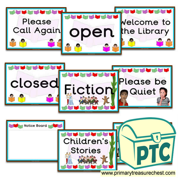 Role Play Library Signs