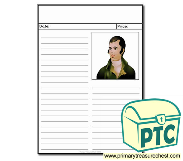Robert Burns themed Newspaper Worksheet