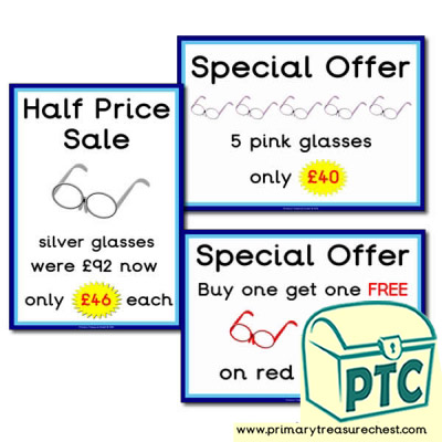Opticians Role Play Special Offers 21p-£99