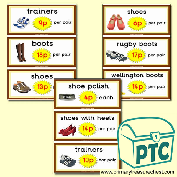 Role Play Shoe Shop Prices (1-20p)