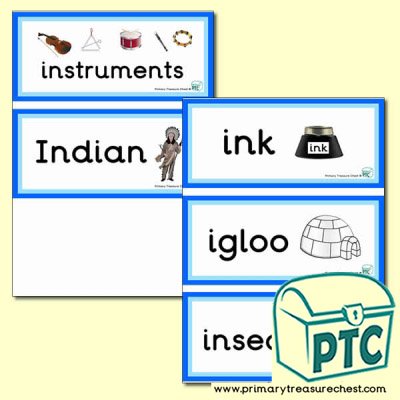 Letter 'i'  Themed Flashcards