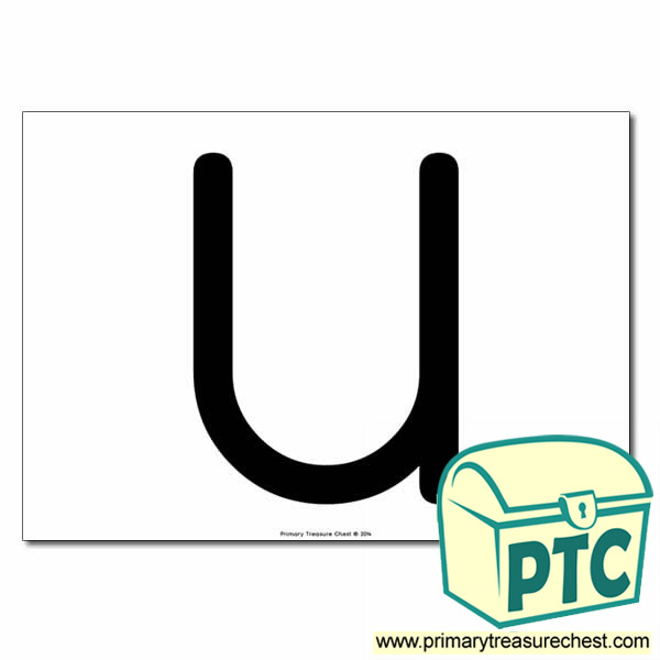 'U' Uppercase Letter A4 poster  (No Images)
