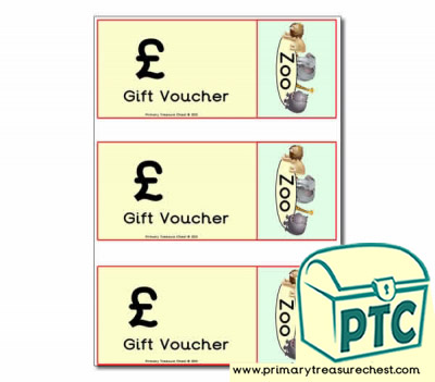Zoo Gift Shop Vouchers