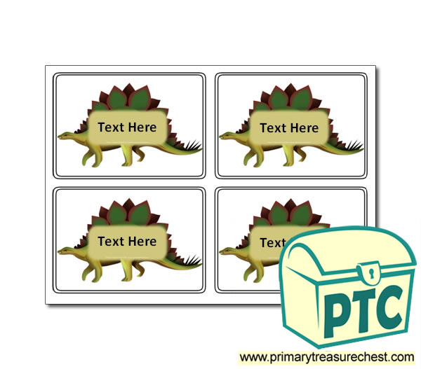 Dinosaur - Stegosaurus Themed Registration Name Cards