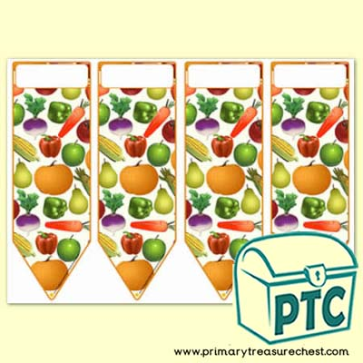 Harvest Fruit & Vegetables Bookmarks