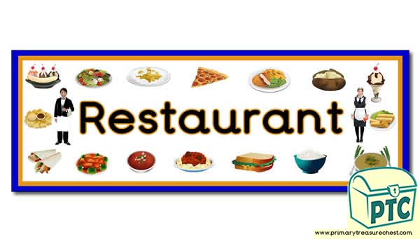 'Restaurant' Display Heading/ Classroom Banner