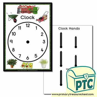 Garden Centre Role Play Clock
