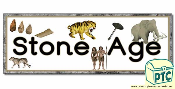 Classroom Border Ideas ~ Stone age display heading classroom banner primary