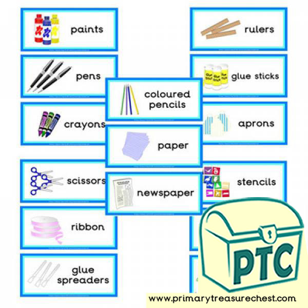 Classrom Equipment Themed Flashcards