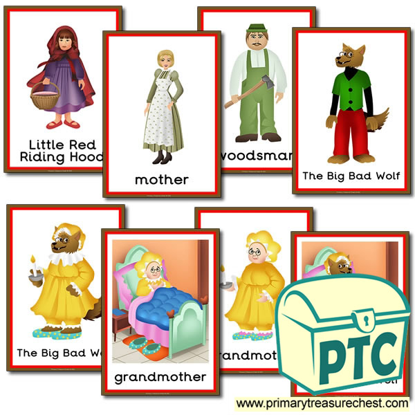 Picture Frames Little Red Riding Hood Primary Treasure Chest