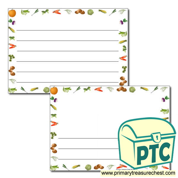 vegetable landscape themed page borders  writing frames