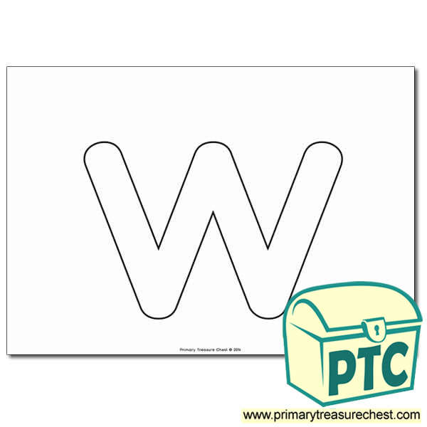 W Bubble Letter Formation Activity No Images Primary Treasure Chest