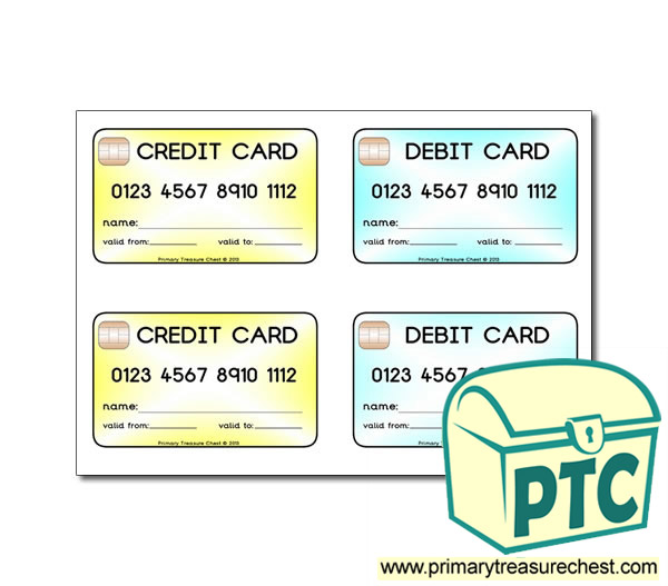 Role Play Credit Cards Debit Cards Primary Treasure Chest