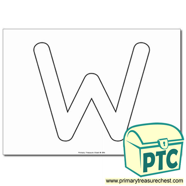 bubble letter w w letter formation activity no images primary 12225