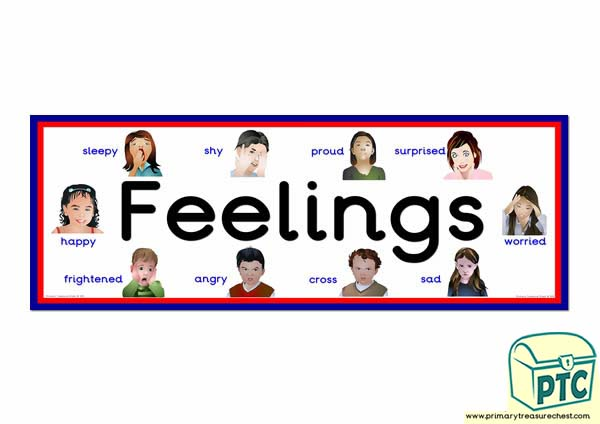 Feelings Display Heading Classroom Banner Primary
