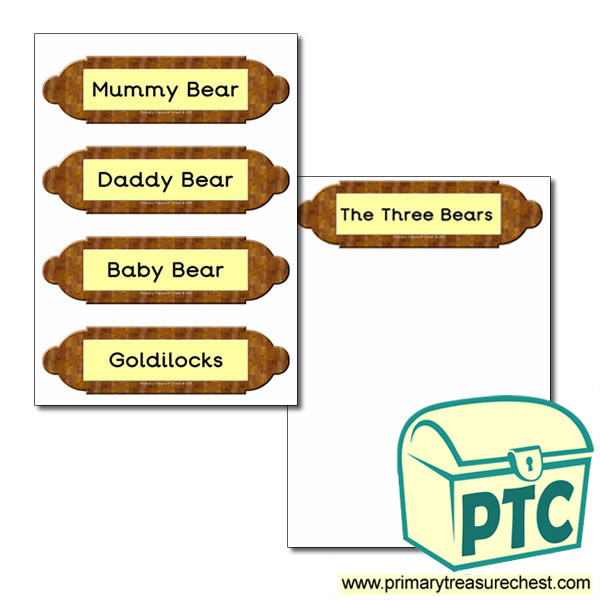 Picture Frame Labels Goldilocks And The Three Bears Primary