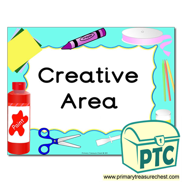 Creative Area Sign For The Classroom Primary Treasure Chest