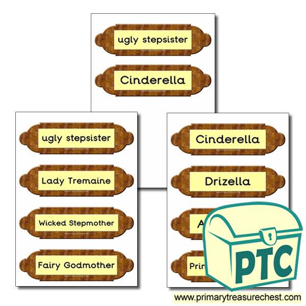 Cinderella Picture Frame Labels Primary Treasure Chest