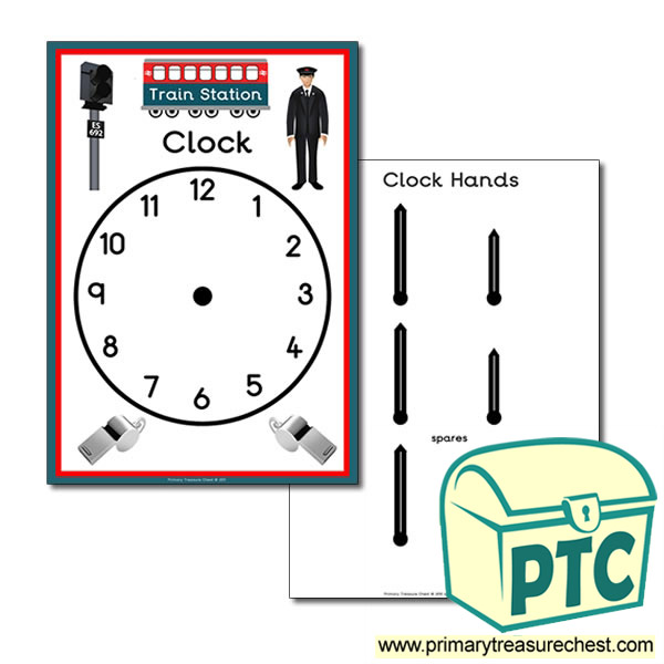 train station role play clock primary treasure chest. Black Bedroom Furniture Sets. Home Design Ideas