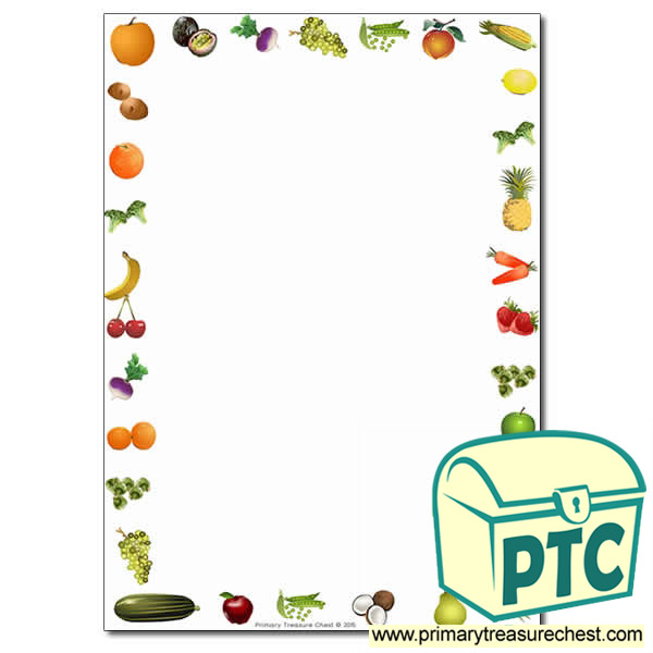 Fruit and Vegetables Themed Page Border /Writing Frame (no ...