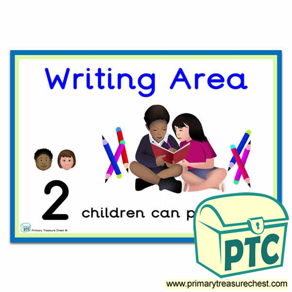 how many children can play here writing area poster - number patterns