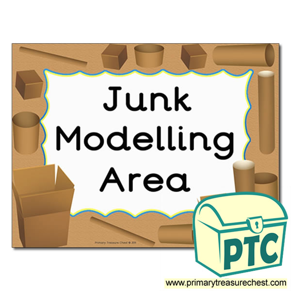 junk modelling area sign classroom resources treasure items chest primary primarytreasurechest