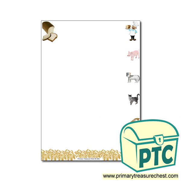 the little red hen themed page border   writing frame