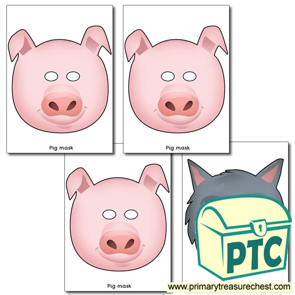 The 3 Little Pigs Masks Primary Treasure Chest