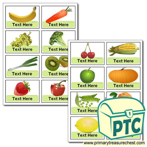 Various Fruit And Vegetable Themed Coat Hook Labels
