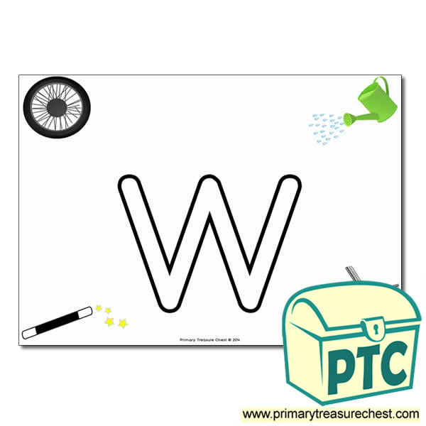 W Bubble Letter Formation Activity With Images Primary Treasure