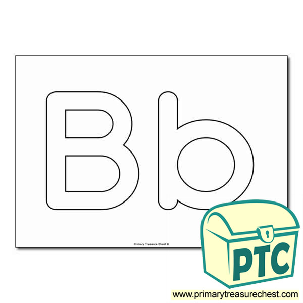 bb upper and lowercase bubble letters a4 poster no images