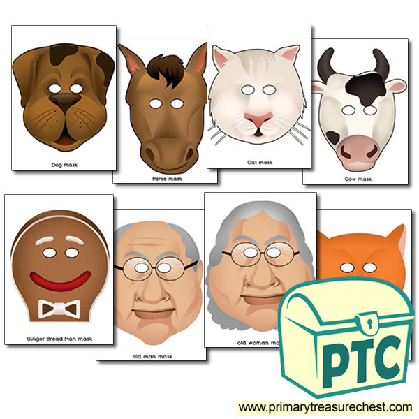 The Gingerbread Man Story Masks - Primary Treasure Chest